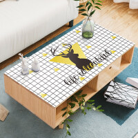 北欧PVC软玻璃餐桌布防水防烫防油免洗茶几垫黑白格子桌垫小方格