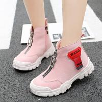 马丁靴儿童休闲运动鞋秋冬新款百搭老爹鞋学生短靴