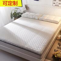 乳胶床垫1.8m床褥加厚2米双人榻榻米垫子1.5m垫被单人1.2学生宿舍 乳胶针织加厚款 白色 约7.5cm