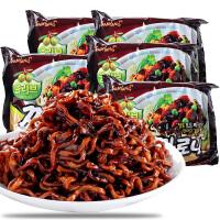 韩国进口三养炸酱面干拌面140g*5袋 杂酱面速食方便面拉面煮面