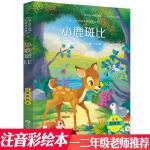 小鹿斑比小学生新课标一二三年级小鹿斑比彩图注音版美绘版儿童绘本儿童读物3-6-7-8-9-10课外书籍
