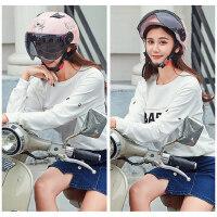 摩托车头盔 男女电动车夏季半盔防晒防紫外线轻便半覆式安全帽