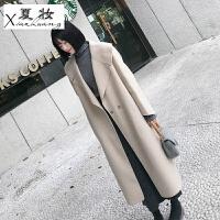 夏妆冬季新款阿尔巴卡羊驼双面羊绒大衣女中长款高端气质毛呢外套