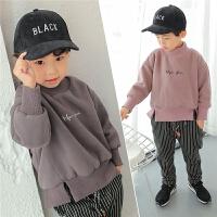 童装男童加绒卫衣高领韩版秋冬季韩国儿童加厚外套套头冬装上衣潮