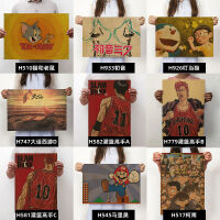 宿舍墙贴复古怀旧牛皮纸海报电影动漫nba油画海报装饰画 动漫类列