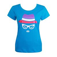 沃特运动T恤女春夏季圆领修身上衣短袖透气速干薄休闲