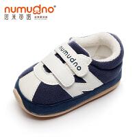 婴儿学步鞋0-1-2岁软底宝宝春秋棉布单鞋男女