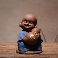中式禅意可爱小和尚陶瓷家居博古架客厅酒柜创意装饰品工艺品摆件