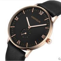 大表盘手表复古罗马刻度表防水夜光钢带男士手表腕表手表男表自动机械表皮带表