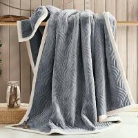 家纺2017秋冬款棉被子美式珊瑚绒毛毯加厚双层法兰绒单双人毯子双面绒毯盖毯垫毯