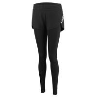 假两件运动紧身裤女速干长裤跑步瑜伽健身裤高腰弹力压缩裤