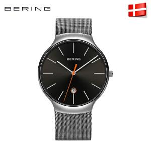bering白令进口男表时尚腕表简约钢带表商务防水手表13338