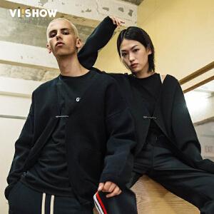VIISHOW2018新款针织衫男 春季开衫男士潮流外套学生情侣装帅气