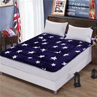 加厚保暖榻榻米床垫1.5m双人1.8米床褥子1.2m单人学生宿舍0.9垫被 法莱绒款 - 满天星