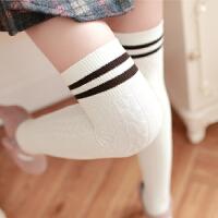 显瘦日系过膝袜春秋中筒袜学生半截袜子女长筒袜堆堆袜大腿高筒袜
