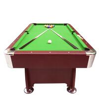高密度板家用台球桌/中式台球桌家用美式桌球/桌球台 2.1米 红色台布