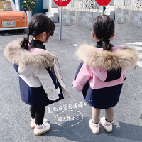 女童派克服儿童洋气外套女宝宝冬装棉衣