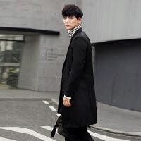 秋季新款男士中长款风衣男韩版学生修身帅气店主风日系青年外套