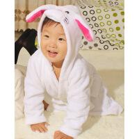 儿童睡袍 法兰绒卡通动物造型男童女童浴袍 宝宝睡衣 家居服睡衣