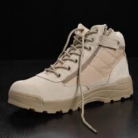 户外军靴男超轻特种兵低帮作战靴07秋冬透气战术靴沙漠靴登山鞋靴