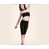 女士竹纤维黑色七分 五分三分安全裤 休闲修身弹力大码打底裤 5X