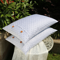 伊迪梦家纺 简约活套枕全棉羽丝绒枕头芯 含枕套舒适高弹性 纯棉高密48*74cm纤维枕头芯TX07
