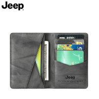 JEEP卡包男超薄真皮时尚潮大容量多功能青年简约驾驶证卡包一体包