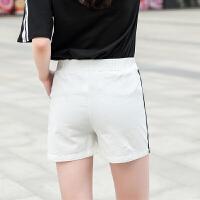 短裤女夏宽松大码阔腿侧边运动棉麻短款薄款外穿亚麻高腰休闲裤子