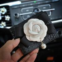 驾驶证套女钥匙包驾驶证可爱驾照皮革珍珠行驶证皮套汽车拉链包女行驶皮套黑色证件
