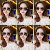 韩版新款墨镜女潮圆脸偏光太阳镜眼镜复古原宿风