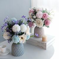 粉色清雅仿真花艺套装欧式假花干花束客厅餐桌电视柜摆件家居装饰