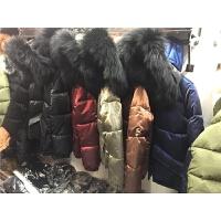 20180528043614802金属丝2017冬季女装新款韩版时尚连帽大真毛领亮面羽绒棉衣