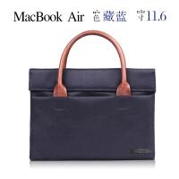 笔记本手提电脑包女13寸14寸休闲内胆包 MAc Air11.6寸藏蓝 其它尺寸