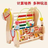 1-2周岁宝宝玩具 1-3岁 6-12个月婴幼儿童串珠绕珠大号