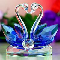 水晶天鹅手工走心的生日礼物特别创意少女心520情人节送女友生日