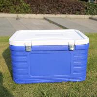 外卖送餐泡沫箱车载保温箱商用家用冷藏箱户外海钓充氧钓鱼箱 加温度计+肩带