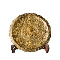 20180710022010429 《飞龙乘云(金)》家居工艺品 装饰品 客厅摆件 全黄铜 真金金箔贴制