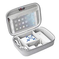 BUBM 数据线收纳包笔记本充电器鼠标移动电源袋U盘硬盘保护套整理袋配件旅行便携包 DK-双层灰 灰色 双层 硬壳