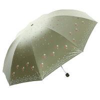 天堂伞33252e五星闪耀钢骨折叠遮阳防紫外线晴雨伞加大