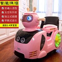 儿童电动车遥控四轮室内童车可坐小孩摇摆卡通婴幼儿宝宝玩具汽车