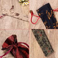 真丝锦缎男女扇套 折扇铜钱手工绿色红色扇袋扇包扇袋