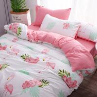 【支持礼品卡】裸睡网红水洗棉四件套床单被套1.8m床上用品单人床宿舍三件套 y7a