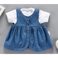 夏季女宝宝牛仔背心裙0-1岁3婴童夏装时尚淑女新生儿马甲