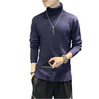 冬季半高领毛衣男士潮流韩版个性上衣ins港风宽松针织衫长袖加厚