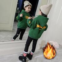 女童卫衣秋冬装儿童加绒小女孩冬季保暖上衣