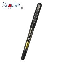 Snowhite白雪 特细耐水走珠笔PVR-155 黑色0.38mm/3支装 子弹头学生标记考试作业用手账财务中性笔签