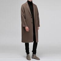 双面羊绒大衣男中长款男式外套男韩版潮流百搭修身青年帅气秋冬款