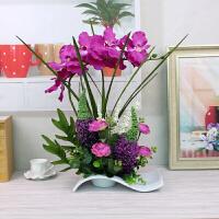 蝴蝶兰仿真花套装假花客厅卧室摆放花艺装饰花塑料花干花绢花