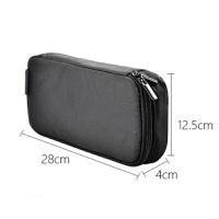 笔记本电脑电源鼠标线收纳包袋配件多功能便携收纳包 黑色 附件包