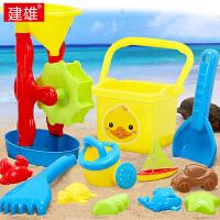 宝宝洗澡玩沙挖沙漏大号铲子戏水工具决明子儿童沙滩玩具铲套装桶